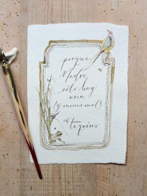 Lámina en papel artesanal - Edición especial Día de la Madre